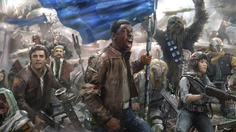 Concept art from the original script for Star Wars Episode IX