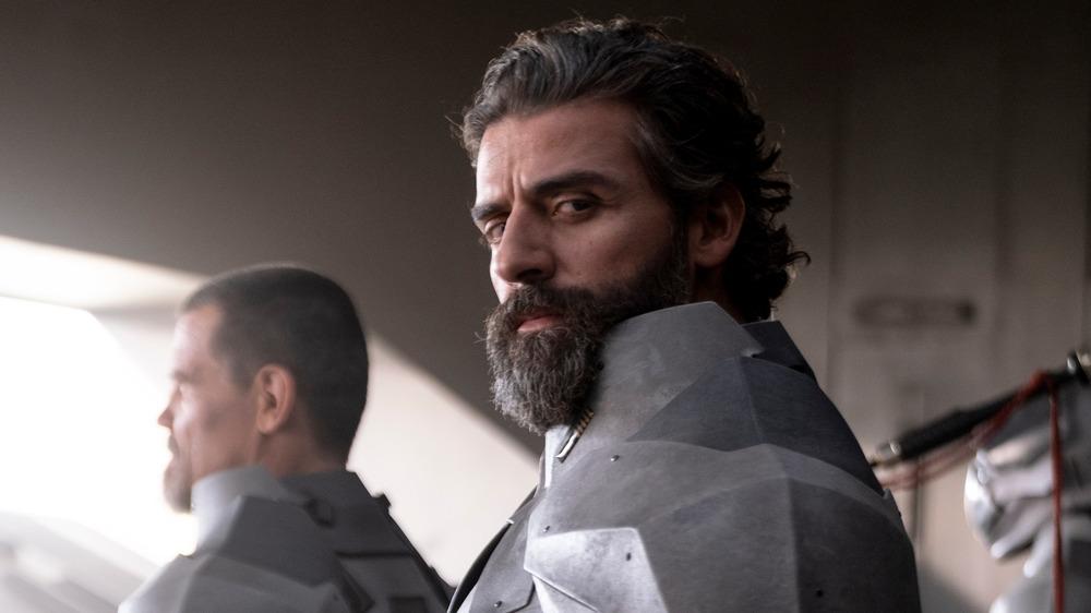 Oscar Isaac as Duke Leto Atreides in 2021's Dune