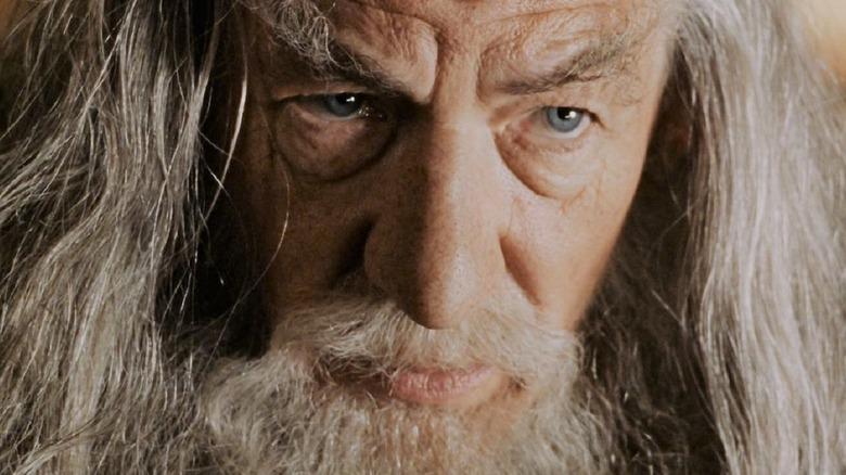 Gandalf staring