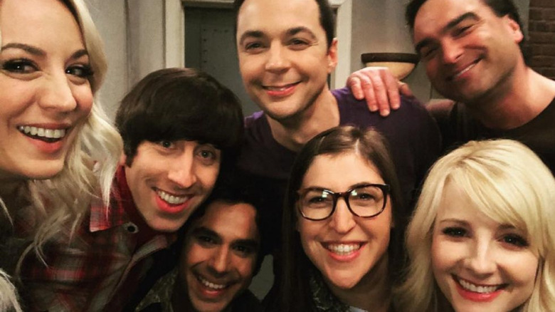 The Big Bang Theory cast selfie smiling