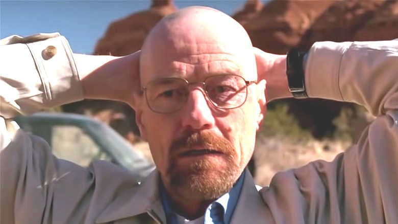 Walter White being arrested
