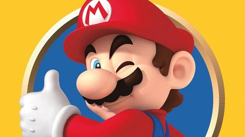 Mario winking