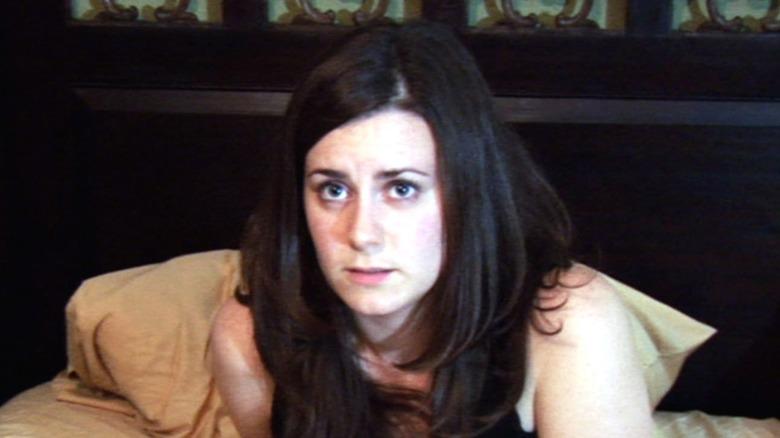 Katie looking frightened