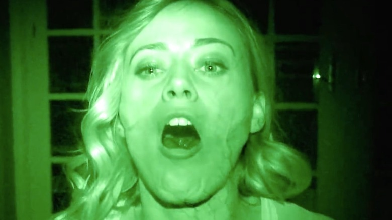Paranormal Activity star screaming