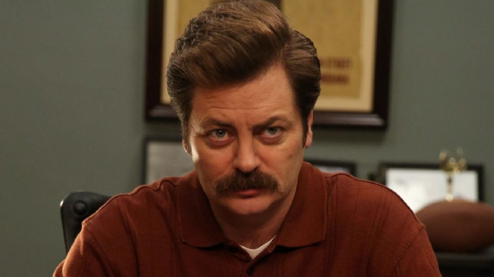 Nick Offerman in Parks and Recreation, Ron Swanson