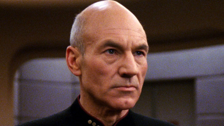Patrick Stewart as Jean-Luc Picard in Star Trek The Next Generation