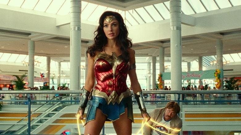 Wonder Woman using her lasso