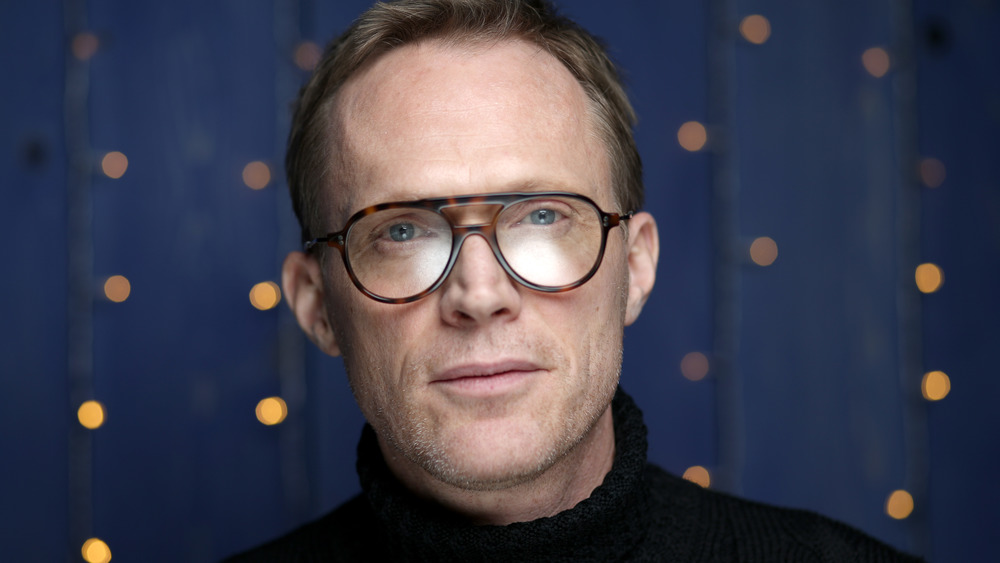 Paul Bettany looks to camera