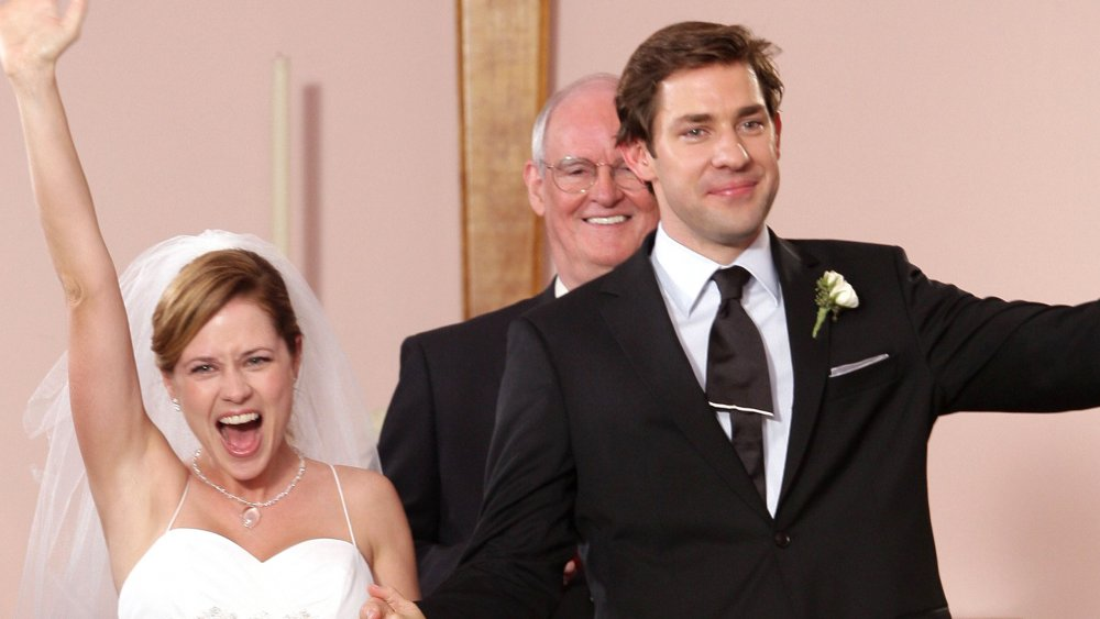 Jim and Pam at the alter on The Office