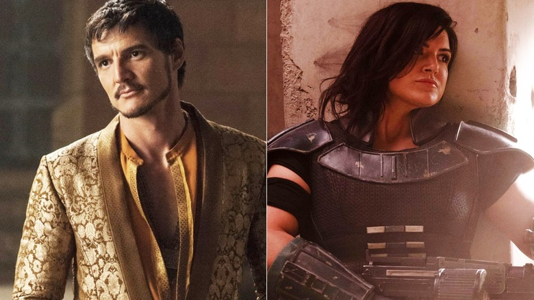 Pedro Pascal and Gina Carano are two of the stars of Disney+'s The Mandalorian