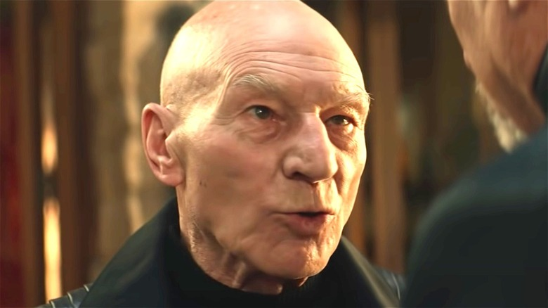 Picard speaking to Q