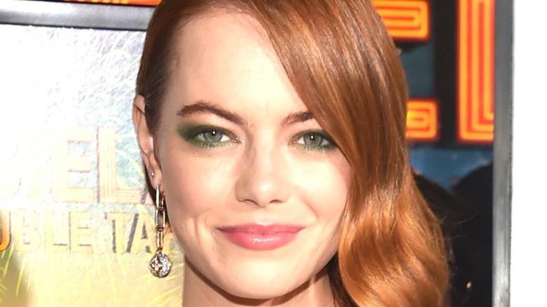 Emma Stone smiles Zombieland: Double Tap event