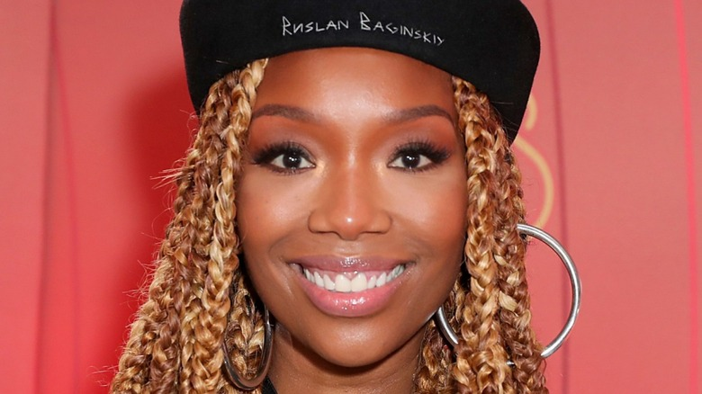 Brandy at the 2020 Soul Train Awards