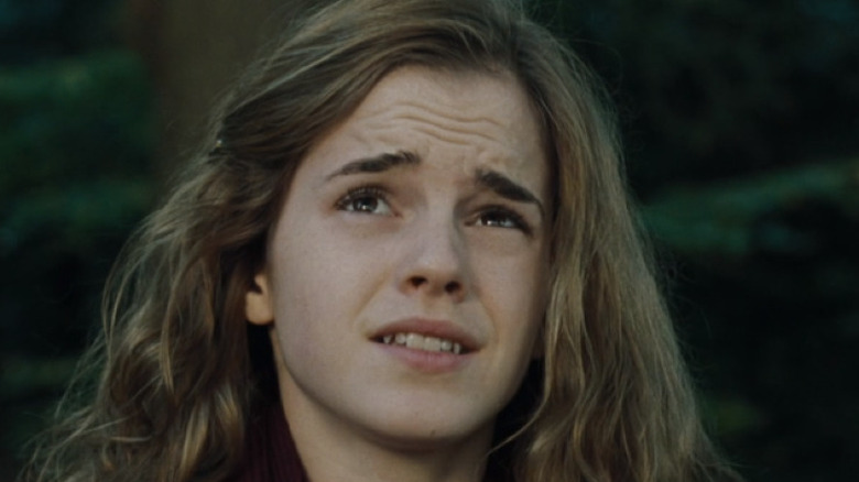 Hermione Granger wrinkling her brow