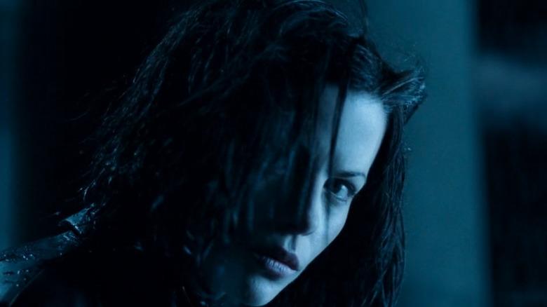 Selene at the beginning of Underworld
