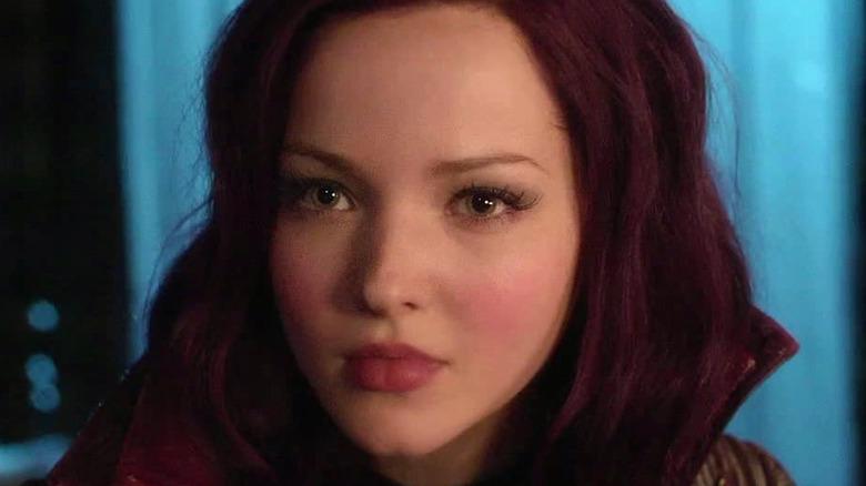Mal with dark purple hair
