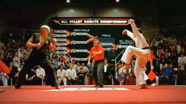 The Karate Kid crane kick