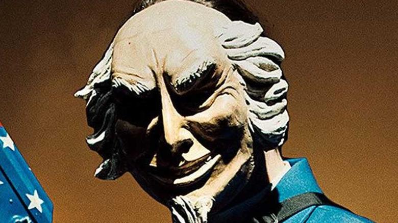 Purger wearing Uncle Sam mask