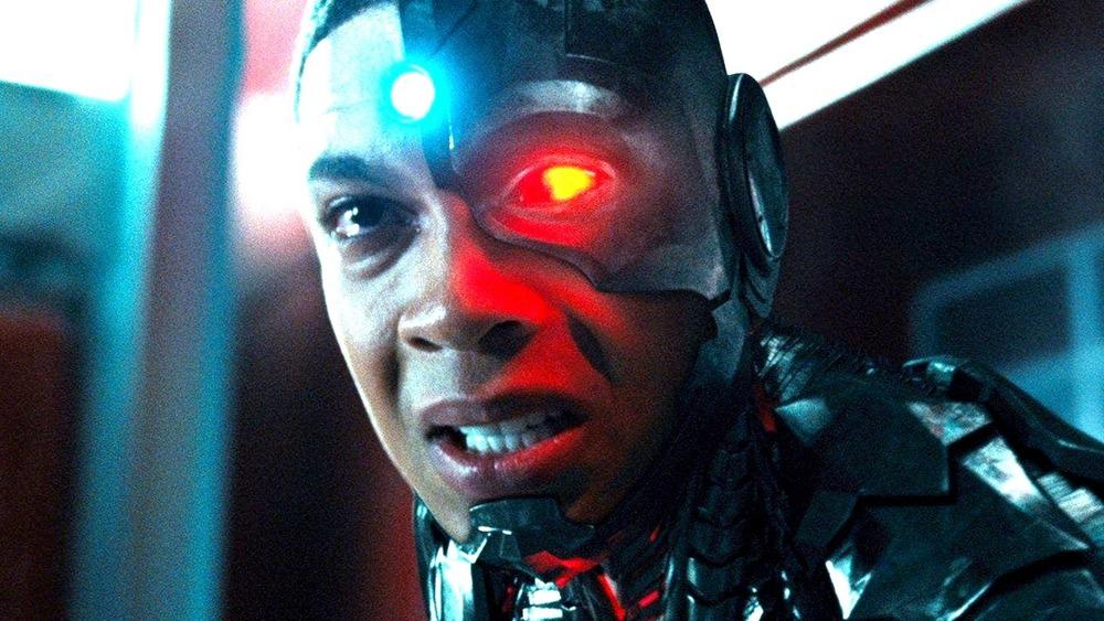 Cyborg looking distressed