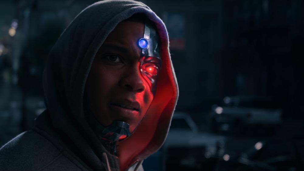 Ray Fisher Cyborg emoting