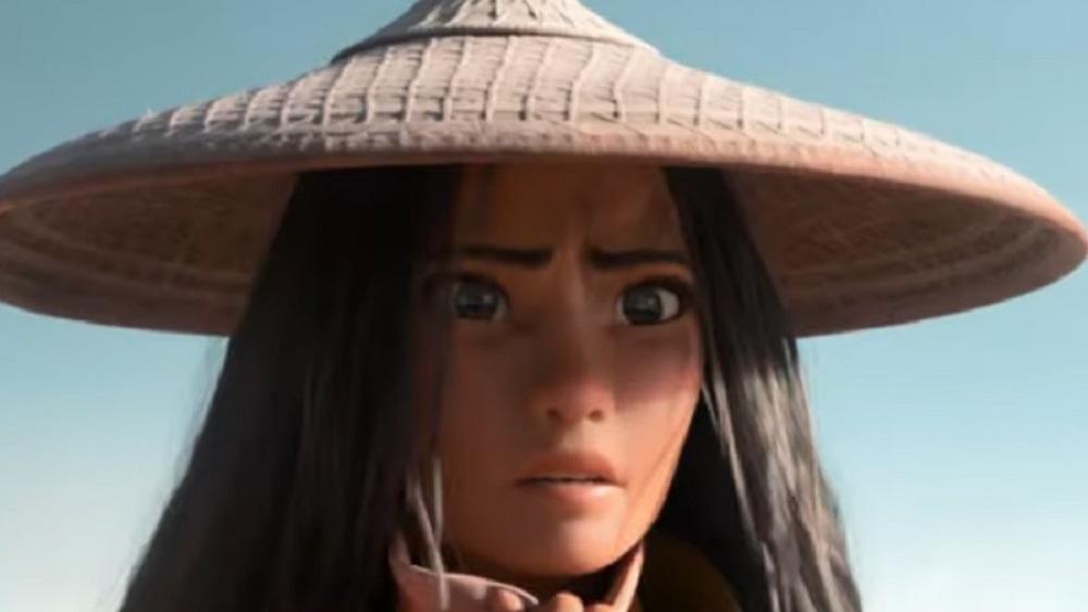 Raya looking perplexed