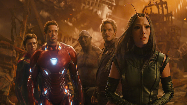 The crew on Titan during Infinity War