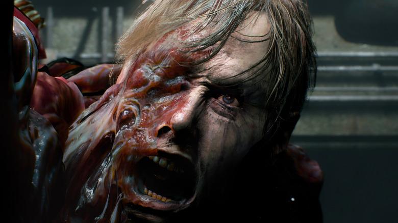 Resident Evil 2 William Birkin roaring