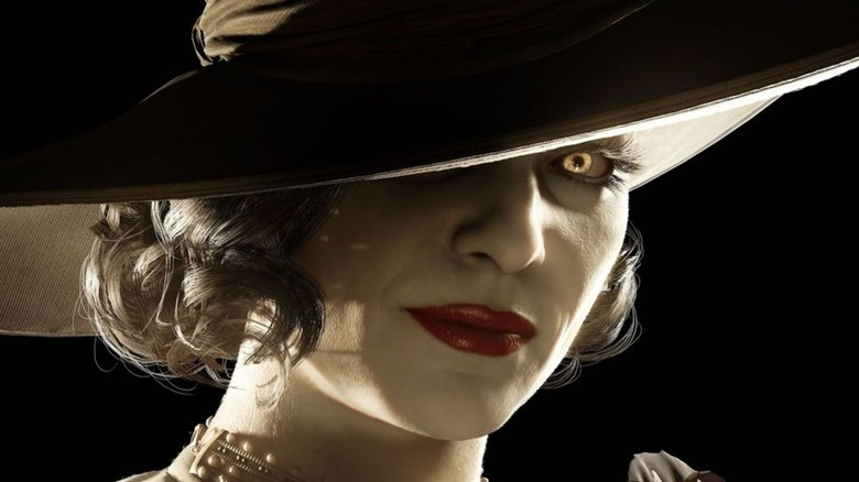 Lady Dimitrescu one eye stare