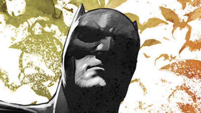 Batman glares down