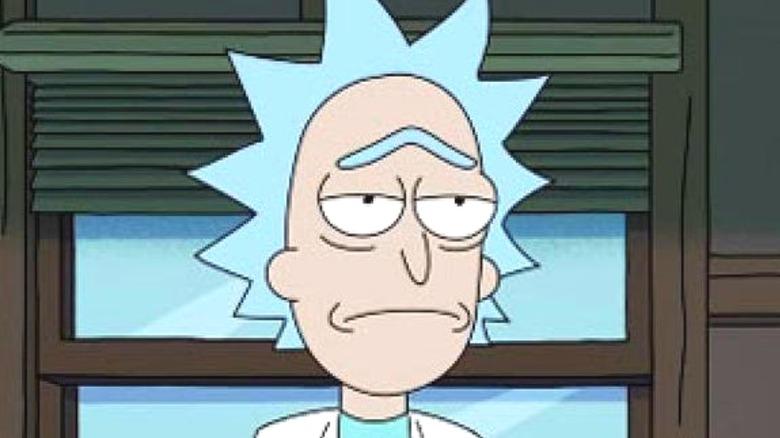 Rick Sanchez frowning