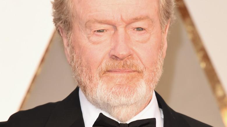 Ridley Scott posing
