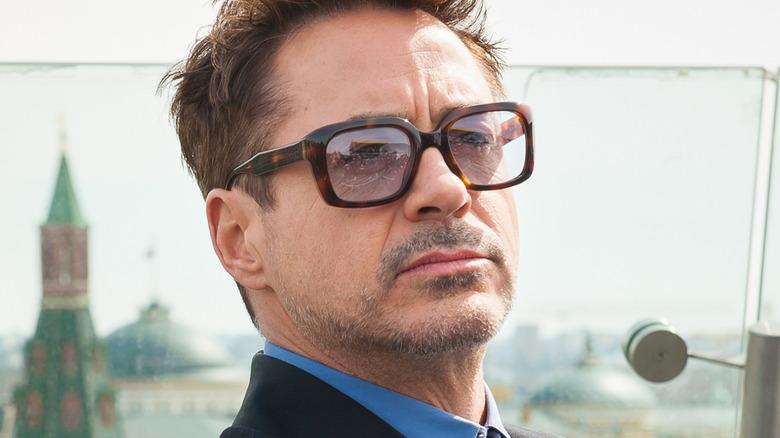 Robert Downey Jr. outside Kremlin