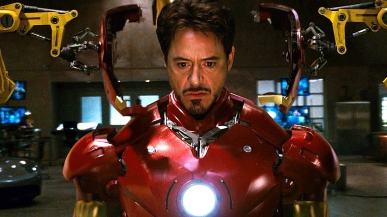 Robert Downey Jr. suits up for the first time in Iron Man