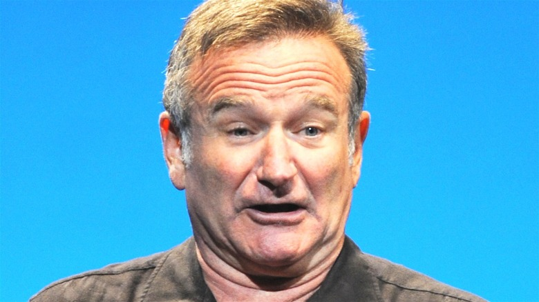 Robin Williams with shocked expression