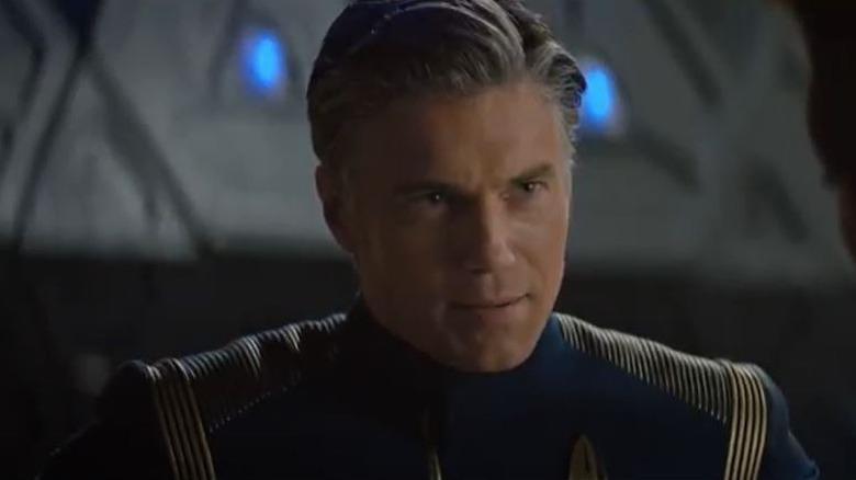 Captain Pike looks ahead