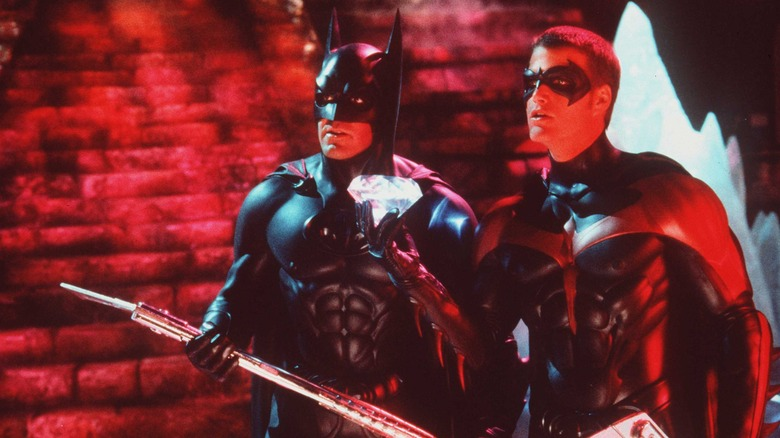 George Clooney as Batman and Chris O'Donnell as Robin in Batman and Robin