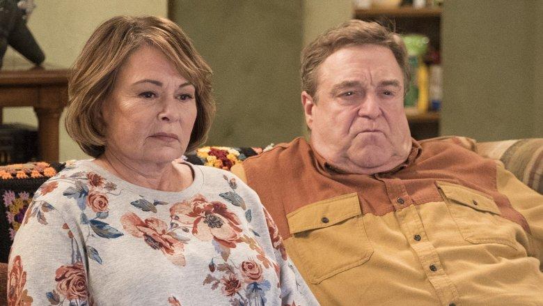 Roseanne Barr, John Goodman on Roseanne