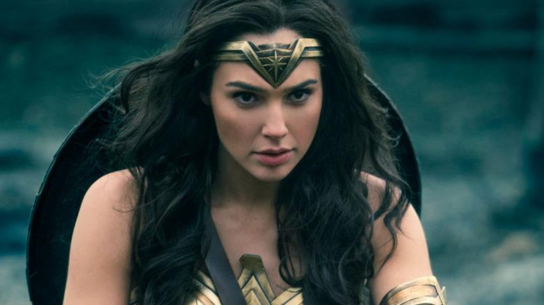 Wonder Woman (Gal Gadot) wears her shield in Wonder Woman 1984
