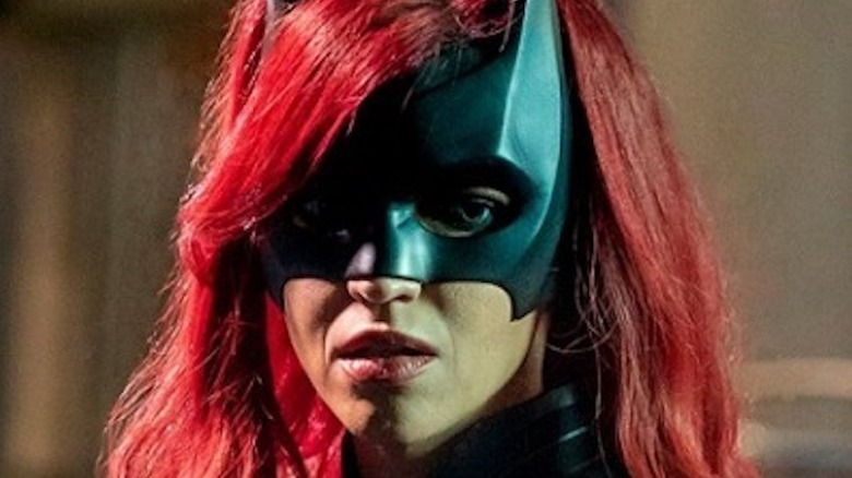 Batwoman looking distraught