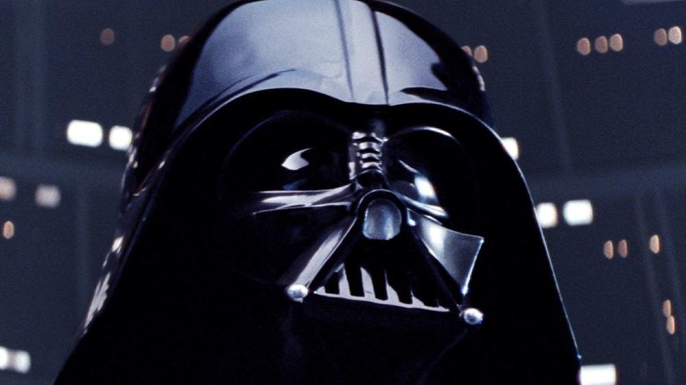 Darth Vader looking upward