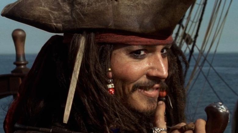 Jack Sparrow smiles mischievously