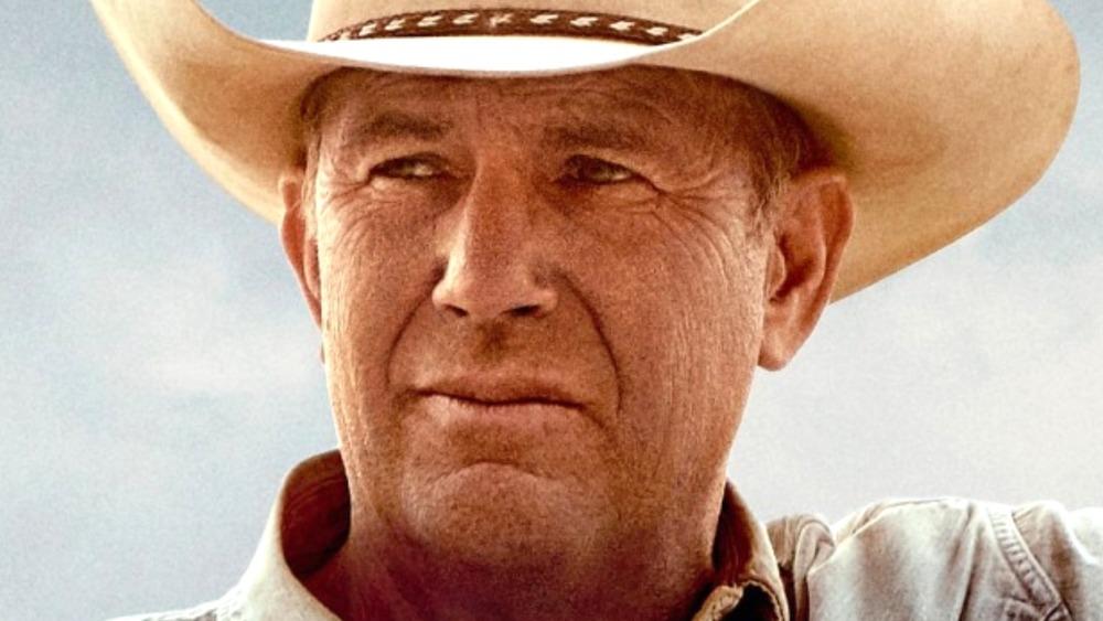 Kevin Costner wearing cowboy hat