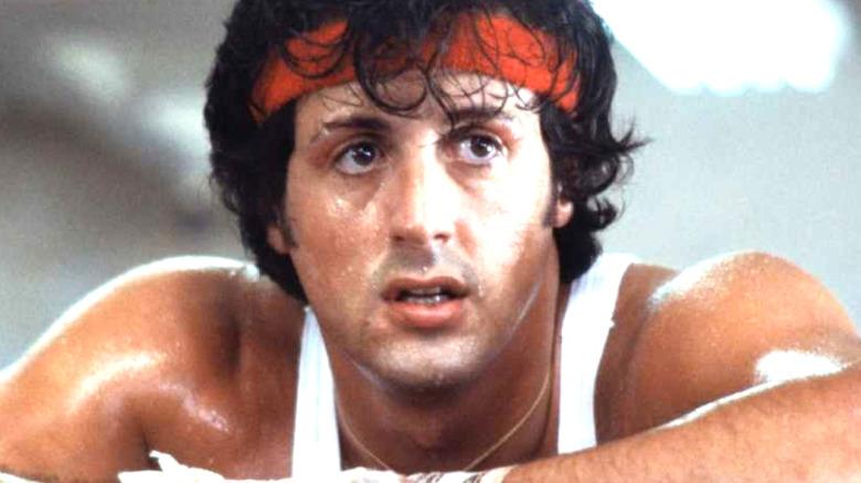 Sylvester Stallone Rocky Balboa red headband