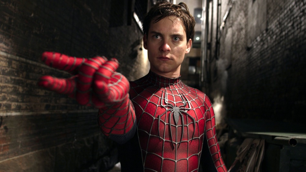 Tobey Maguire as Peter Parker/Spider-Man in Spider-Man 2
