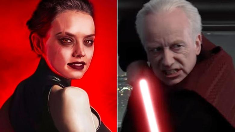 Dark Rey and Emperor Palpatine