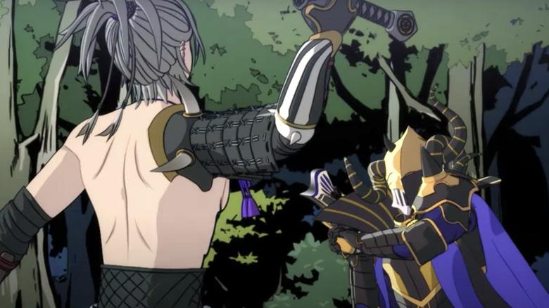 Oda Nobunaga fighting