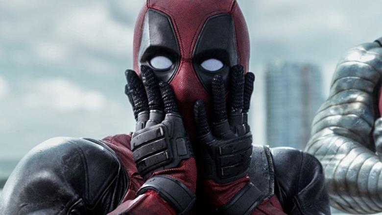 Deadpool surprised face
