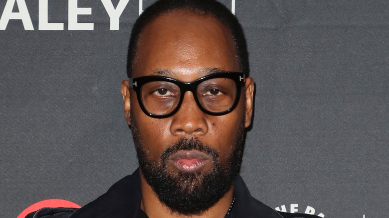 RZA wearing black-rimmed glasses