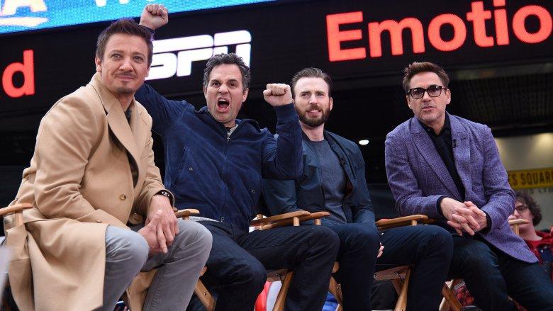 Jeremy Renner, Chris Evans, Robert Downey Jr. and Mark Ruffalo
