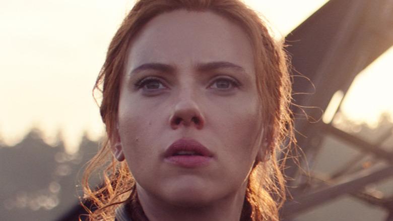 Scarlett Johansson looking in the distance